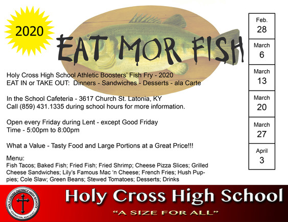 2020 Holy Cross Fish Fry 8.5x11 Flyer