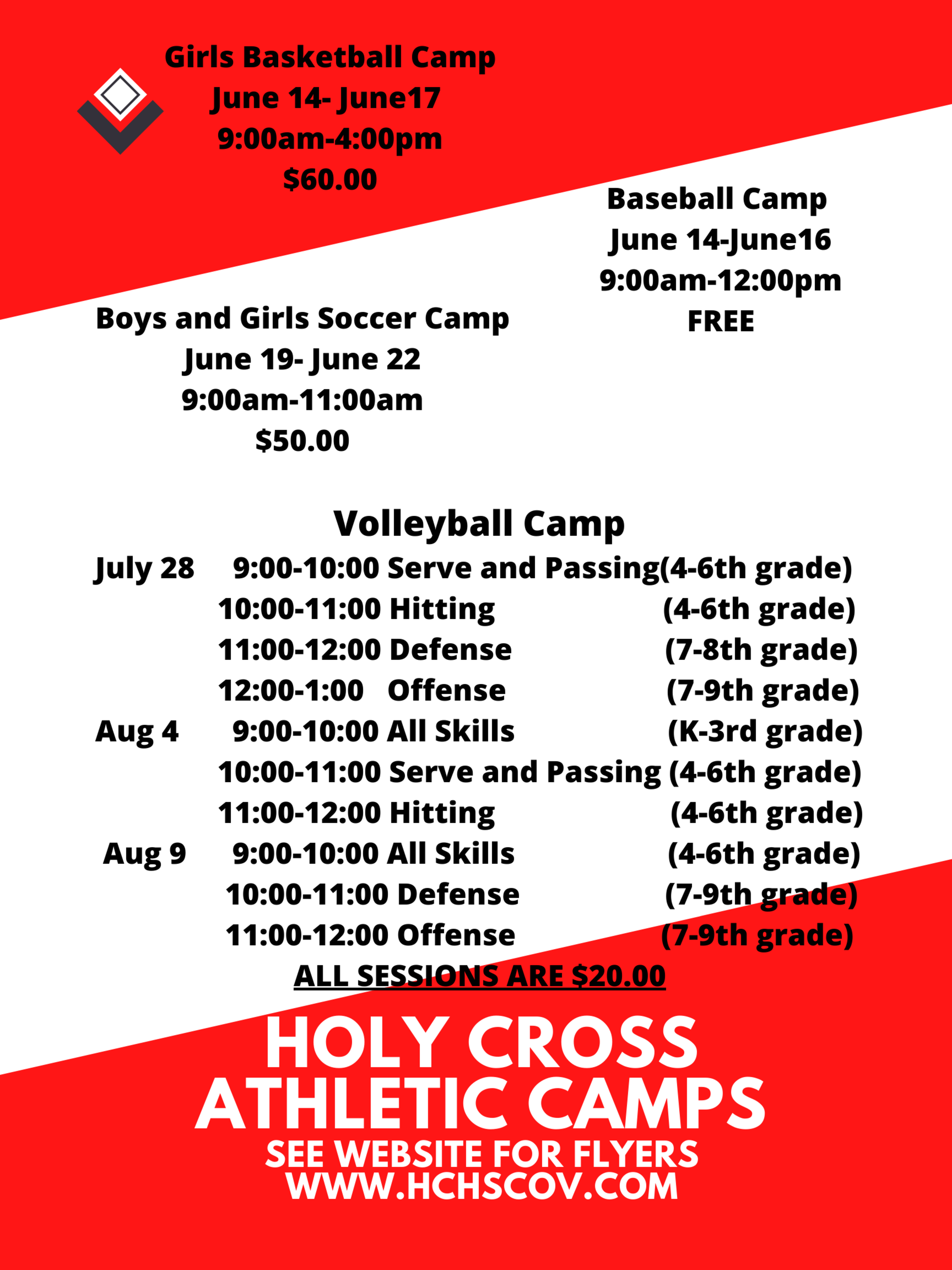 Holy Cross Athletic Camps 2