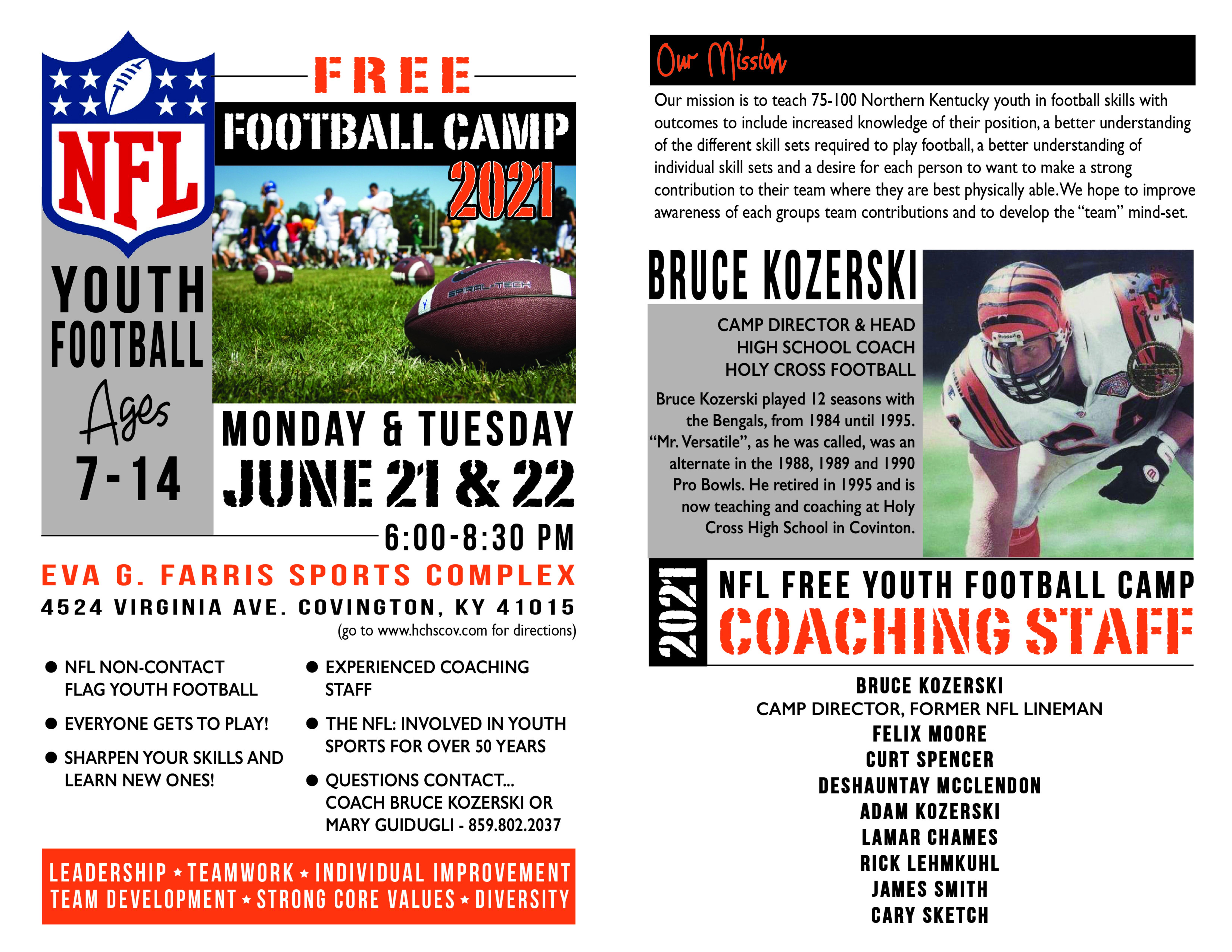 Nfl Free Football Camp 2021 Inside