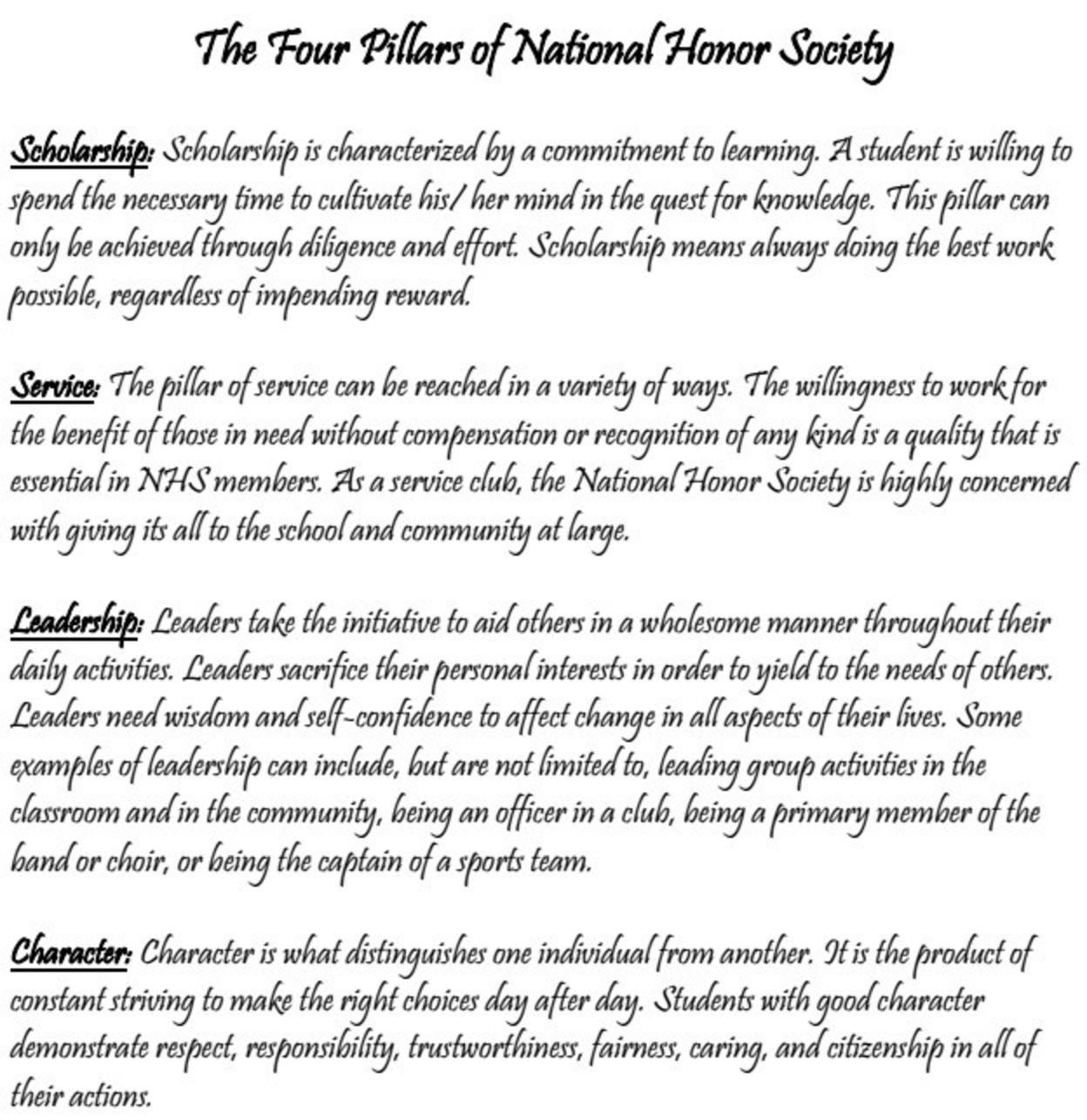 Nhs 4 Pillars
